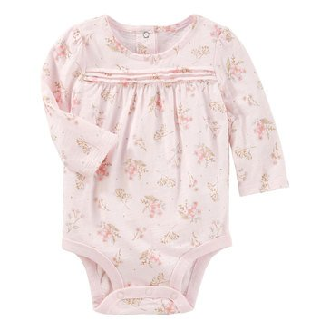 OshKosh Baby Girls' Pink Lace Floral Bodysuit