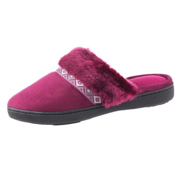 Totes Isotoner Microsuede Angela Clog Wild Rose