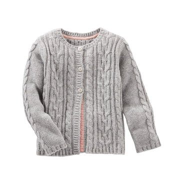 OshKosh Baby Girls' Cable Knit Swing Cardigan
