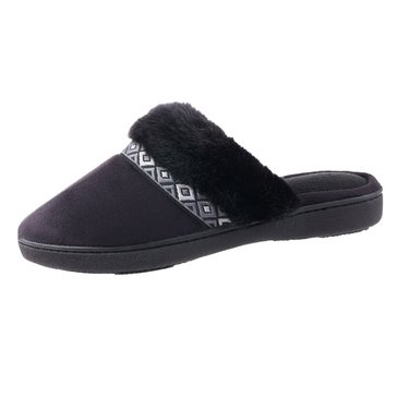 Totes Isotoner Microsuede Angela Clog Black