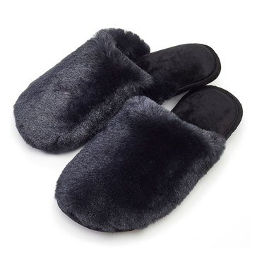 Totes Isotoner Women's Bunny Fur Clog Slippers
