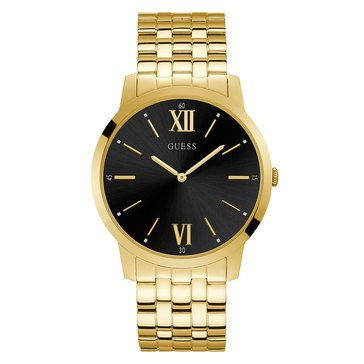 Guess Unisex Gold Tone Watch, 44mm