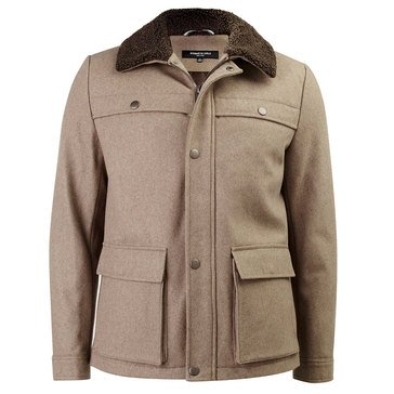 KC SHERPA COLLAR WOOL JACKET ALMOND