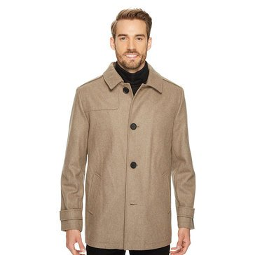 Kenneth Cole Men's Club Collar Wool Coat