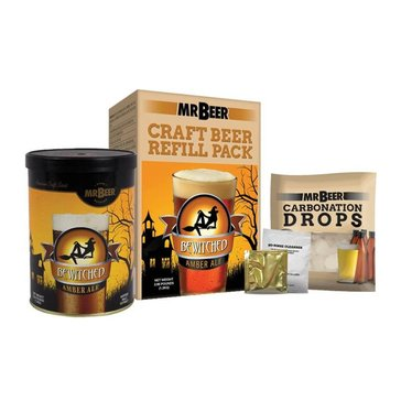 Mr. Beer Bewitched Amber Ale Beer Making Refill Kit (40-60977-02)