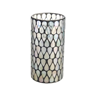 Mikasa Farmhouse 6 x 6 Inch Clear Mosaic LED Candle