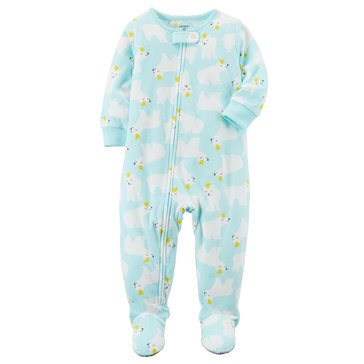 Carter's Baby Girls' Fleece Pajamas, Polar Bear