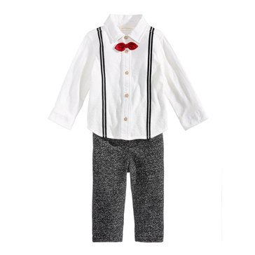 First Impressions Baby Boys' Suspender Shirt Set