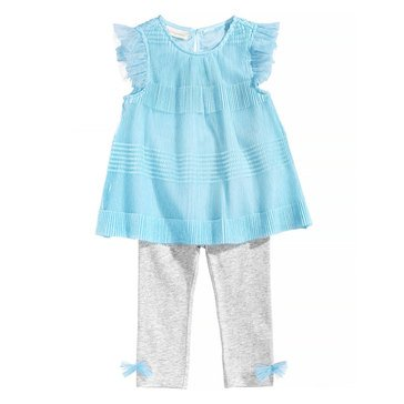 First Impressions Baby Girls' Pleated Tunic Set