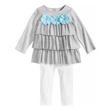 First Impressions Baby Girls' Ruffle Tunic Set
