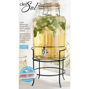 Home Essentials 1.5 Gallon Bail And Trigger Beverage Dispenser