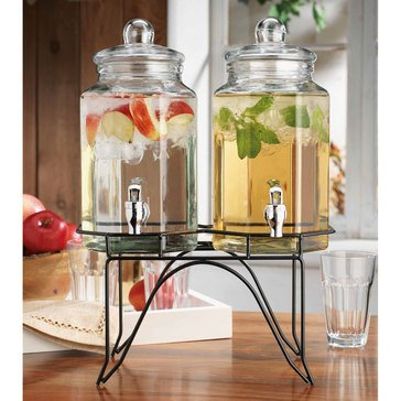 Home Essentials Twin 1 Gallon Del Sol Beverage Dispenser