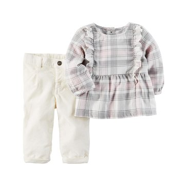 Carter's Baby Girls' 2-Piece Tunic Pant Set