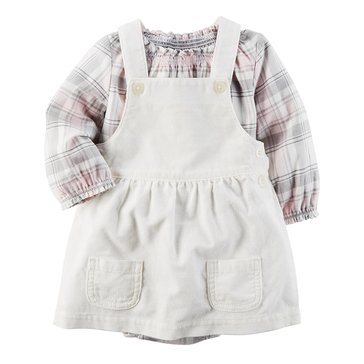Carter's Baby Girls' 2-Piece Plaid Jumper Set