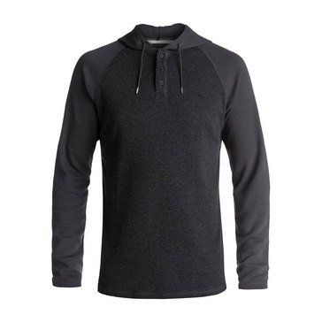 Quiksilver Men's Wedgeport Long Sleeve Rag Henley Knit Hoodie