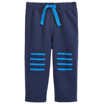 First Impressions Baby Boys' Stripe Knee Patch Pants