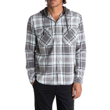 Quiksilver Men's Hooded Tang Long Sleeve Flannel Woven Shirt