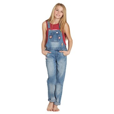 Billabong Big Girls' Aloha Yo Denim Overall