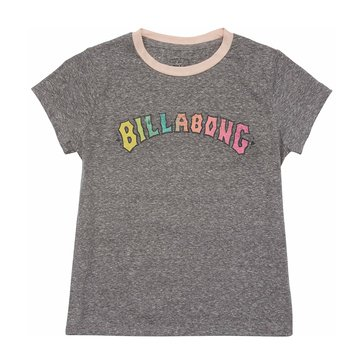 Billabong Big Girls' Wild Child Tee, Dark Athletic Grey