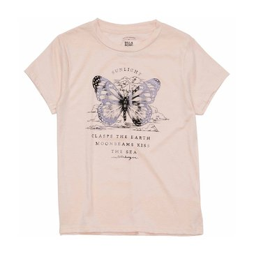 Billabong Big Girls' Butterfly Sky Tee, Pink Mist