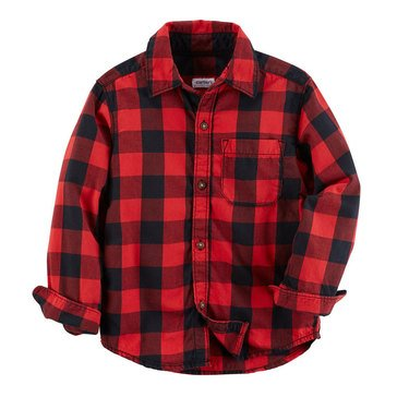 Carter's Toddler Boys' Check Woven Shirt, Red
