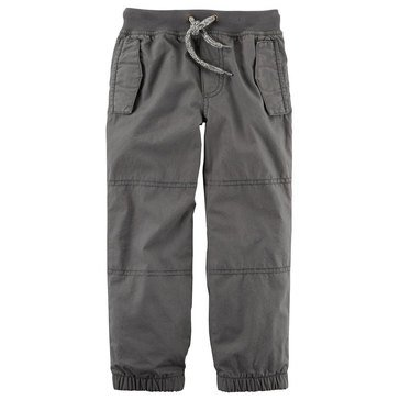 Carter's Toddler Boys' Lined Rib Waistband Joggers, Grey