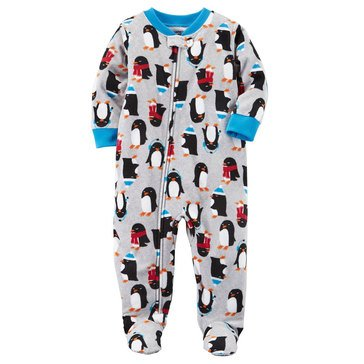 Carter's Little Boys' Fleece Pajamas Penguine Print
