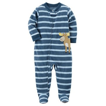 Carter's Little Boys' Fleece Stripe Moose App