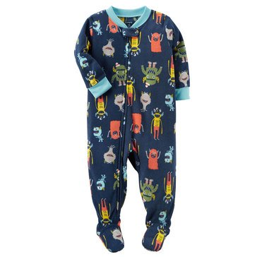 Carter's Little Boys' Fleece Pajamas Monster Print