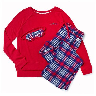 Tommy Hilfiger Three Piece PJ Set Chelsea Plaid