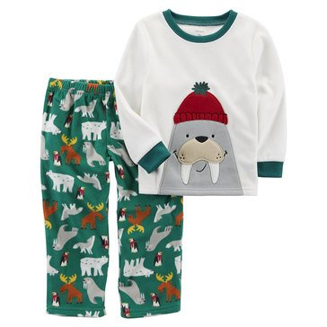 Carter's Little Boys' Fleece 2PC Pajamas Walrus