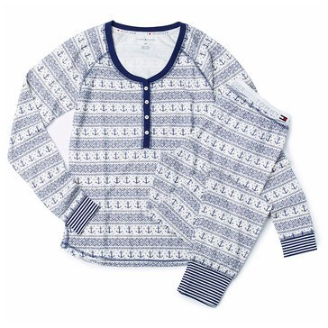 Tommy Hilfiger Two Piece PJ Set Nautical Fairisle