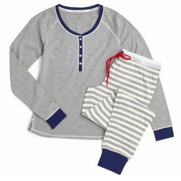 Tommy Hilfiger Two Piece PJ Set Heather Grey
