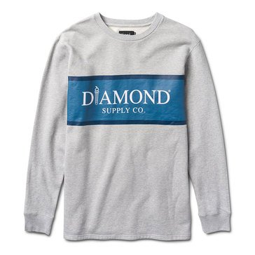 Diamond Supply Men's Mayfair Long Sleeve Fleece Crew