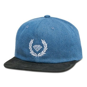 Diamond Supply Men's Brillant Crest Denim Snapback Hat