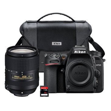 Nikon D7500 DX Format Digital SLR W/18-300MM VR Lens-(13532)
