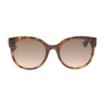 Gucci Women's Sunglasses GG0035S-004, Havan with Brown Gradient Lenses 54mm
