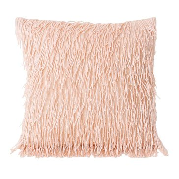 Thro Brenna All Over Beaded Fringe Rose Smoke 12 X 12 Pillow