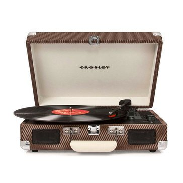 Crosley Deluxe Portable Turntable-Tweed