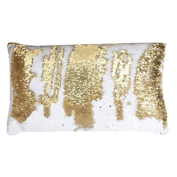 Thro White Gold Melody Mermaid 12 X 20 Pillow