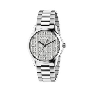 Gucci Women's G-Timeless Diamante Silver Tone Stainless Steel Watch, 38mm