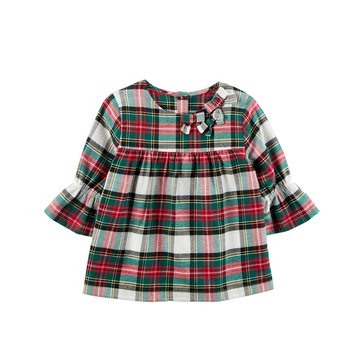 Carter's Toddler Girls' Plaid Flannel Babydoll Top