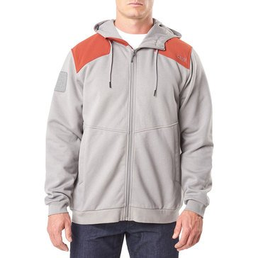 5.11 ARMORY HOODED PERF FLC JACKET GREY/RED