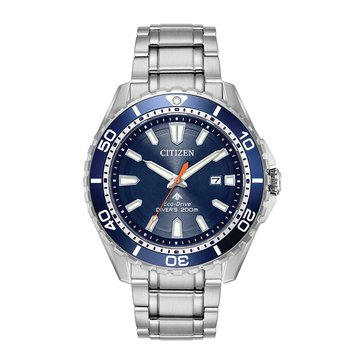 Citizen Men's Promaster Diver Eco-Drive Watch BN0191-55L, Blue/ Stainless Steel 45mm