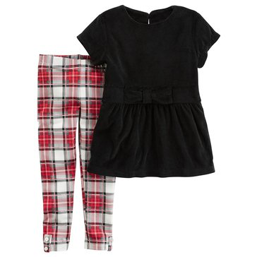 Carter's Toddler Girls' 2-Piece Velour Legging Set, Black