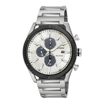 Citizen Men's CTO Stainless Steel Eco-Drive Watch, 43mm
