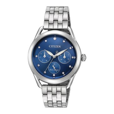 Citizen Women's Eco-Drive LTR Blue/Stainless Steel Watch, 38mm