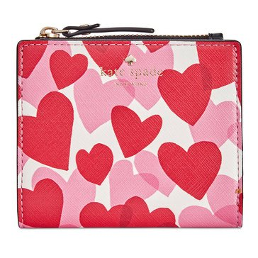 Kate Spade Yours Truly Print Adalyn Wallet Heart Party