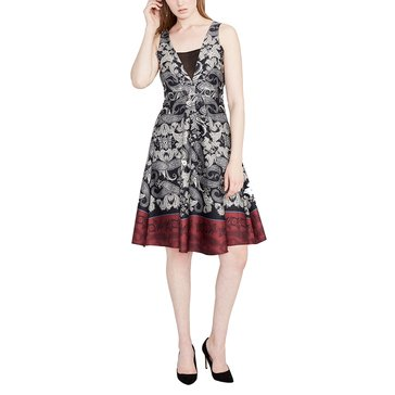 Rachel Roy Paisley Seam Dress