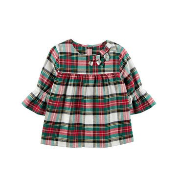 Carter's Little Girls' Plaid Flannel Babydoll Top